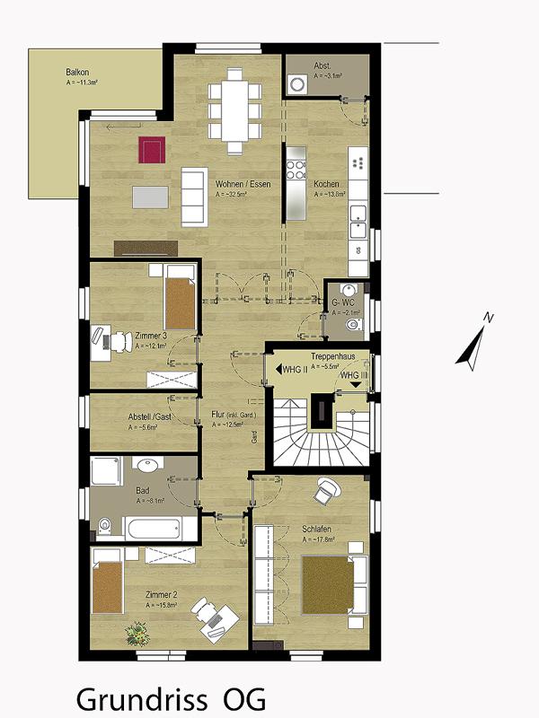 Grundriss wohnung 5 zimmer  OG Wohnung verkauft | IhL Immobilien hanseatische Lebensart GmbH